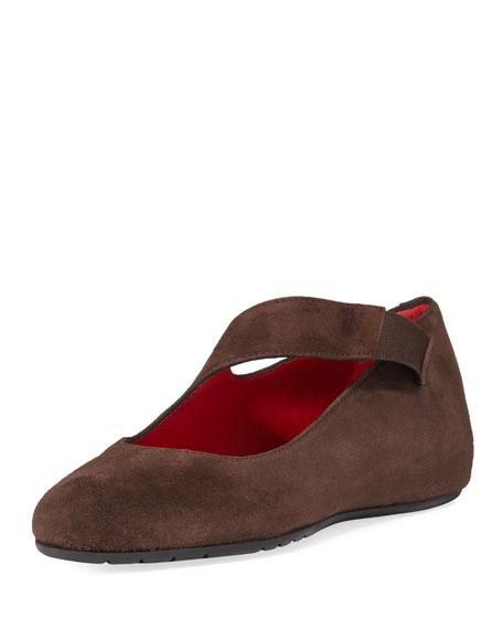 Sesto Meucci Rian Asymmetric Comfort Wedge Flat, Dark