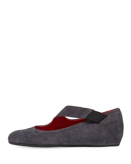 Rian Asymmetric Comfort Wedge Flat, Gray