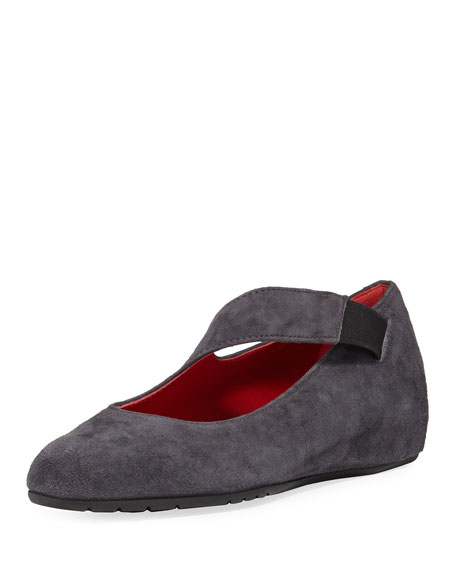 Sesto Meucci Rian Asymmetric Comfort Wedge Flat, Gray