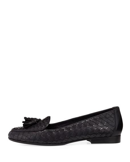 Nash Woven Tassel Loafer, Black
