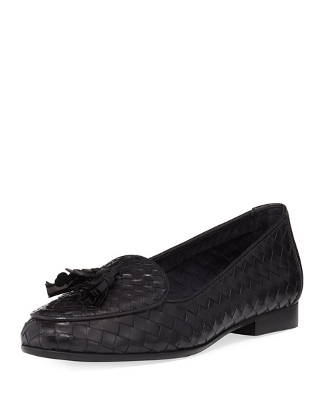 Sesto Meucci Nash Woven Tassel Loafer, Black