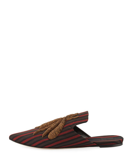 Ragno Spider Striped Silk Slipper