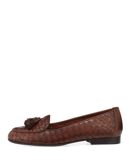Nash Woven Tassel Loafer, Dark Tan