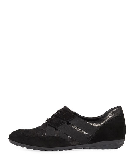 Bamy Mixed Leather Sneaker