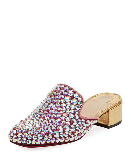 Christian Louboutin Eltonetta Embellished Red Sole Mule