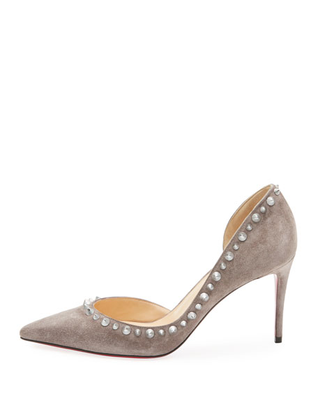 Irishell Studded Suede Red Sole Pump