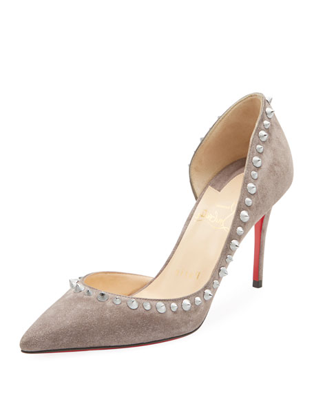 Christian Louboutin Irishell Studded Suede Red Sole Pump
