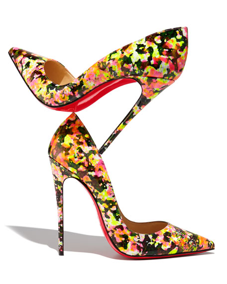 So Kate Floral Red Sole Pump, Multi