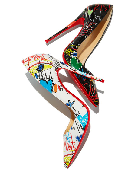Image 2 of 5: So Kate Loubitag Red Sole Pump