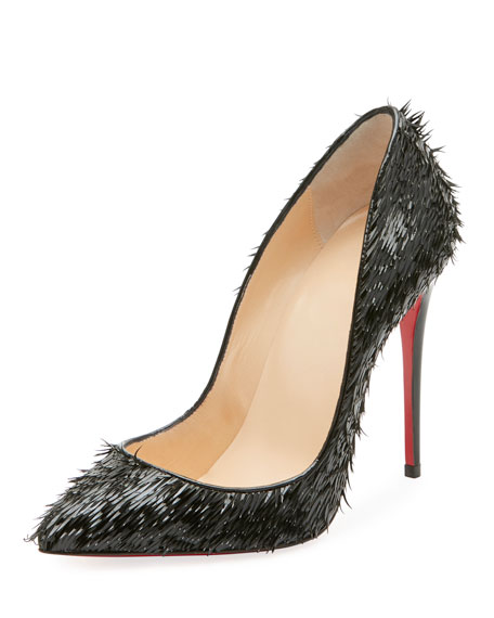 Christian Louboutin Pigallie Follies Crow Patent Red Sole