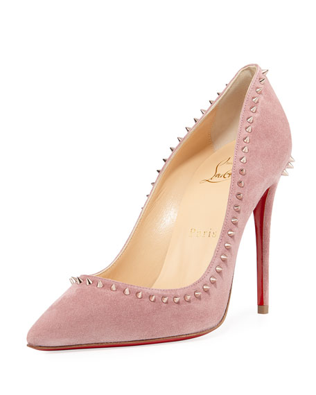 Christian Louboutin Anjalina Spiked Suede Red Sole Pump