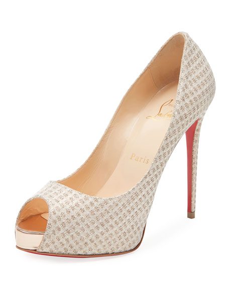 Christian Louboutin New Very Prive Lurex Platform Red