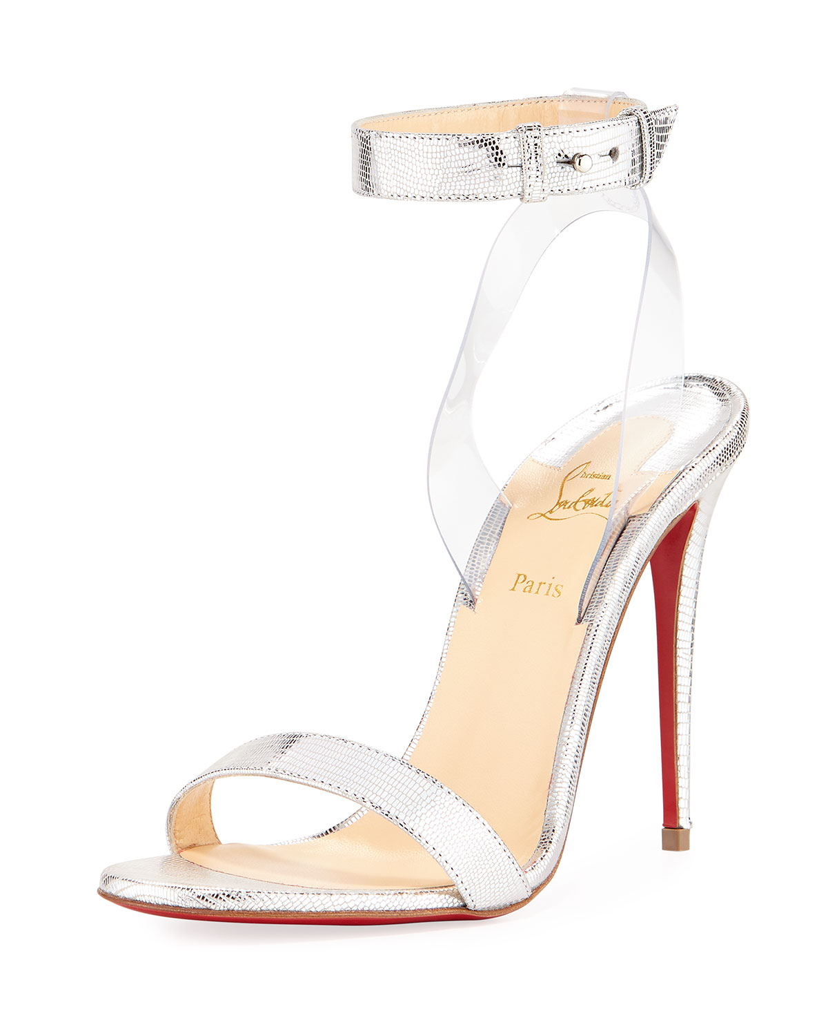 0605a6e30d1f Christian Louboutin Jonatina Embossed Red Sole Sandal