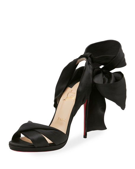 Tres Frais Satin Red Sole Sandal