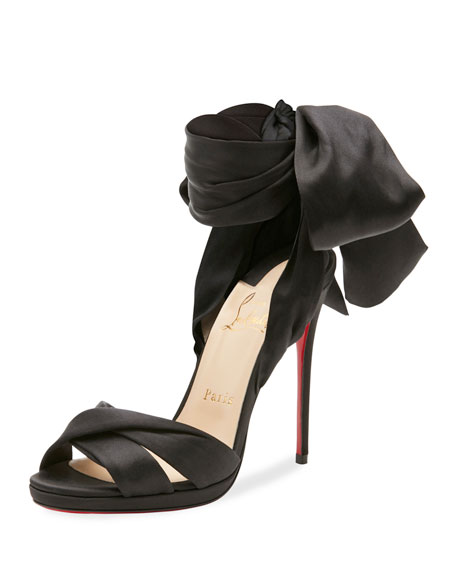 Christian Louboutin Tres Frais Satin Red Sole Sandal