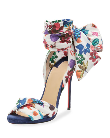 Christian Louboutin Tres Frais Patterned Red Sole Sandal
