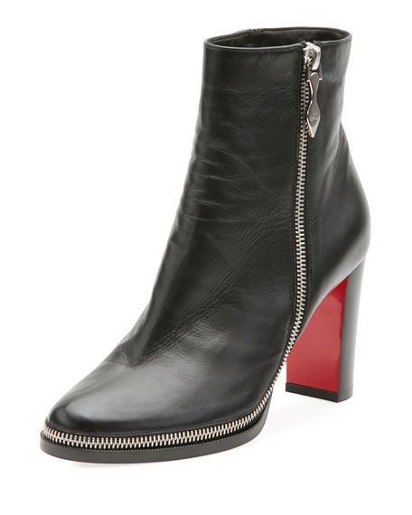Telezip Crinkled Red Sole Ankle Boot