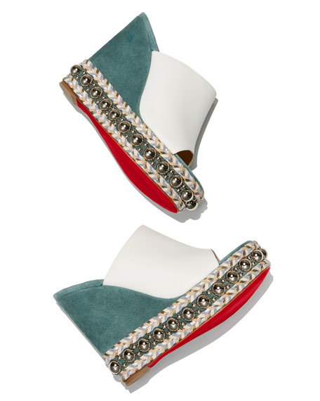 Janibass 120mm Platform Red Sole Slide Sandal
