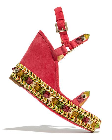 Pyraclou Spike Wedge Red Sole Sandal
