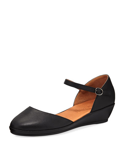Noa Star Mary Jane Leather Flat