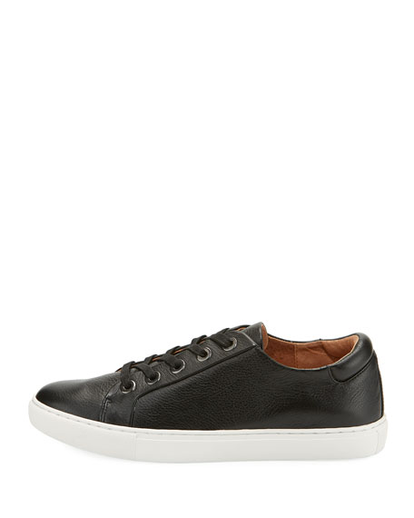 Bobbie Lace-Up Pebbled Low-Top Sneaker