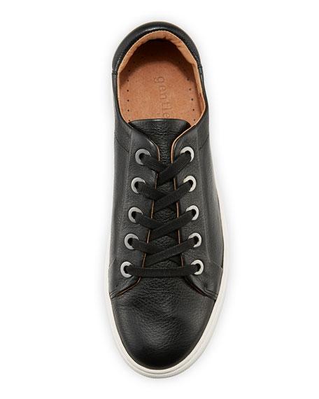 Bobbie Lace-Up Pebbled Low-Top Sneaker