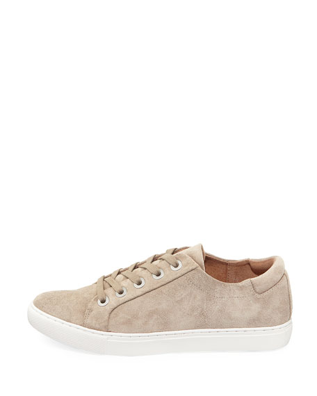 Bobbie Lace-Up Suede Low-Top Sneaker