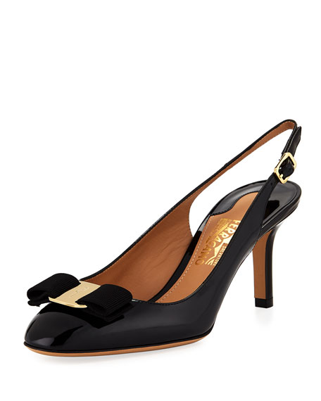 Salvatore Ferragamo Ortigia Slingback Pump with Signature Vara