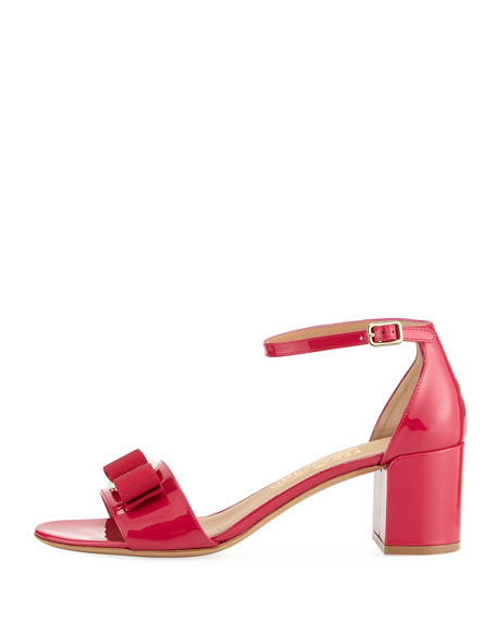 Patent Leather Vara Bow Sandal