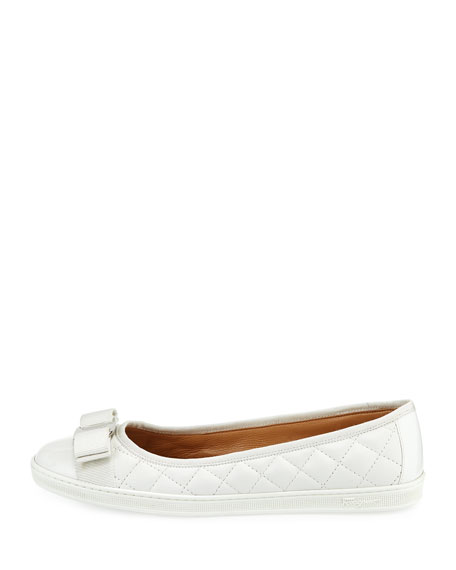 Rufina Quilted Leather Bow Sneaker