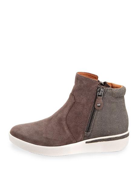 Harper Mixed Zip-Up Sneaker