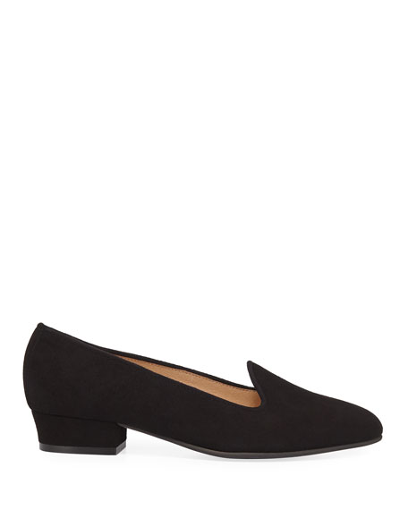 Ariele Chunky-Heel Loafer, Black