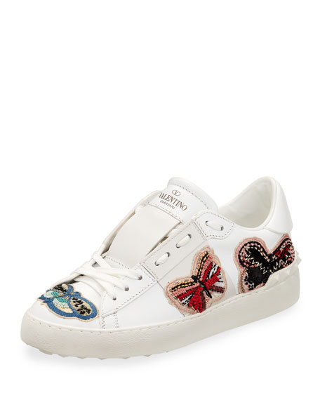 Valentino Garavani Open Butterfly Platform Sneaker