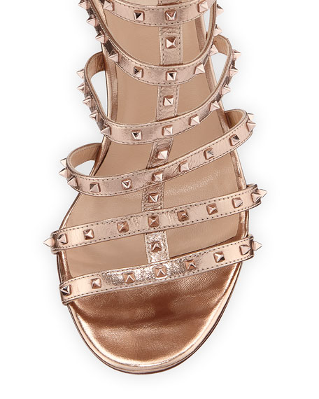 Lovestuds 105mm Caged Metallic Napa Sandal
