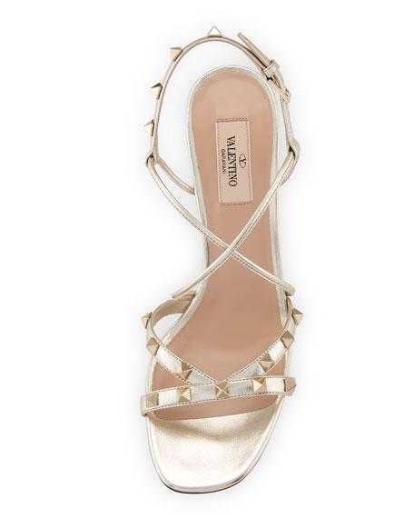 85mm Free Rockstud Crisscross Stiletto Sandal
