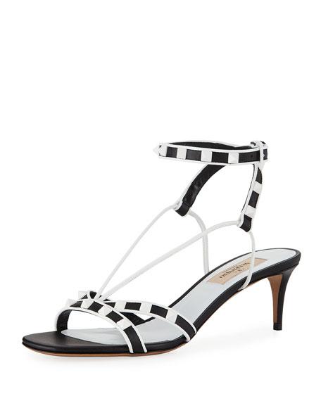 Valentino Garavani Free Rockstud Kitten-Heel Sandal