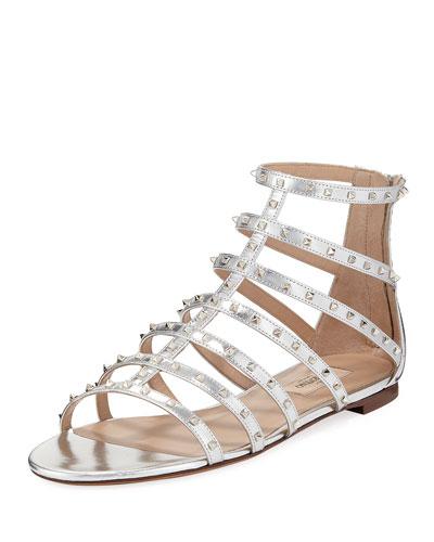 Lovestuds Caged Metallic Flat Sandal
