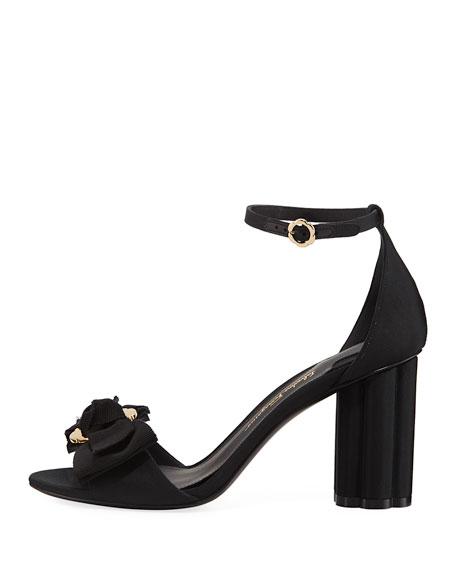 Argenta Flower-Heel Grosgrain 85mm Sandal