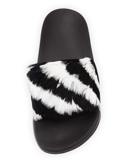 Free Feathers Pool Slide Sandal