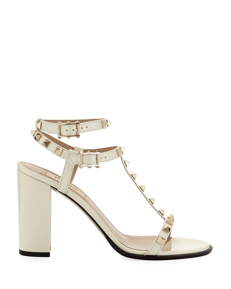 Rockstud Patent Leather 90mm City Sandal