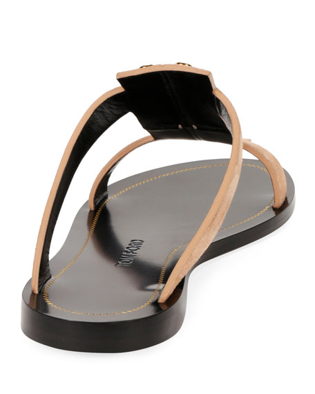 Studded Suede Flat Caged Sandal