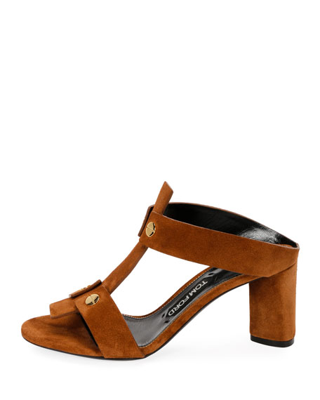 Suede T-Caged 65mm Sandal
