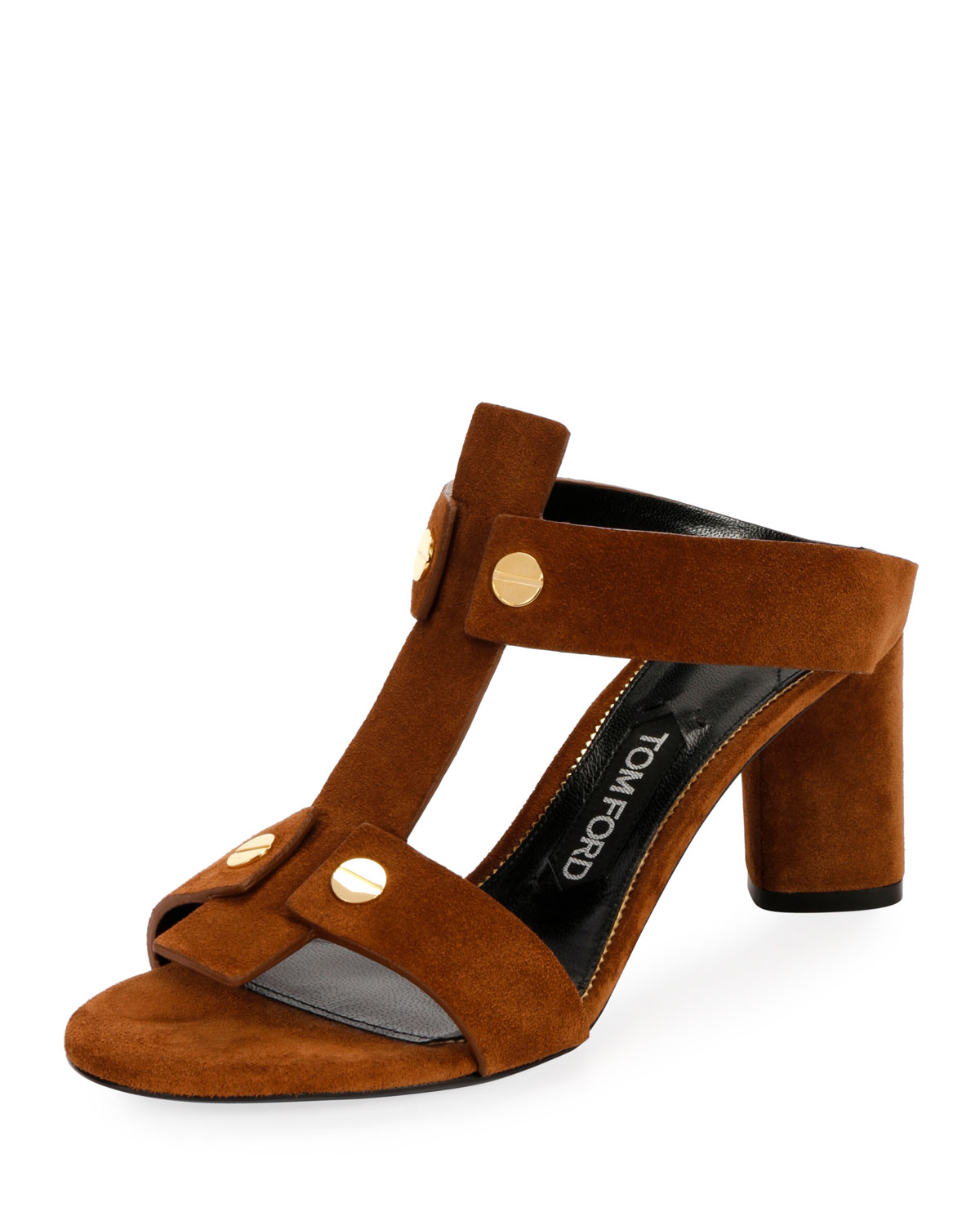 b1d1a0d8add8e6 TOM FORD Suede T-Caged 65mm Sandal