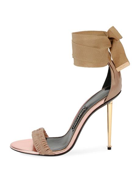 Patent Ankle-Tie 105mm Sandal
