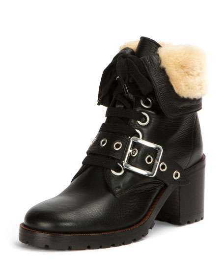 Frye Kay Shearling Lace-Up Boot