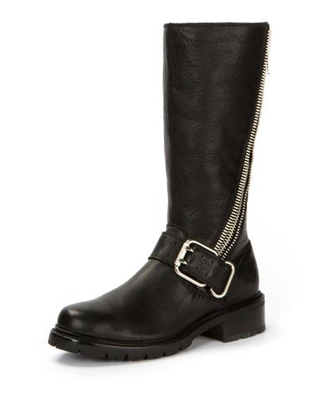 Frye Samantha Calf-High Zip Boot