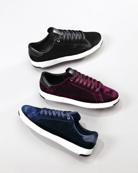 Cole Haan Grand Pro Velvet Tennis Shoe