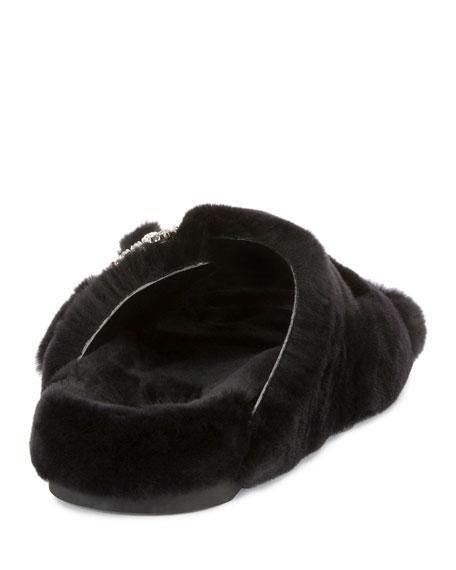 Viv Slidy Flat Fur Sandal