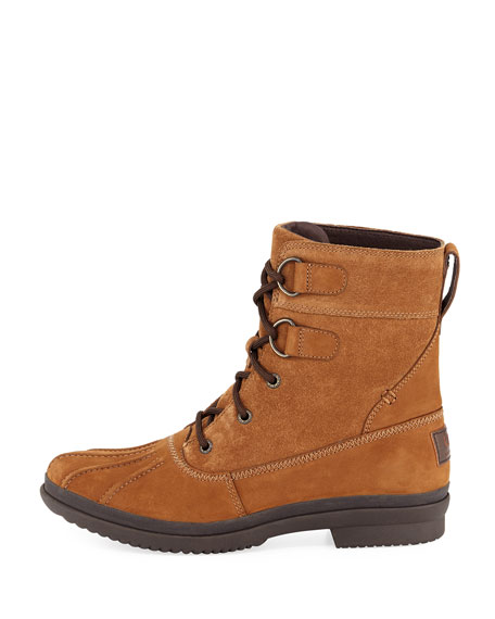 Azaria Suede Duck Boot, Brown