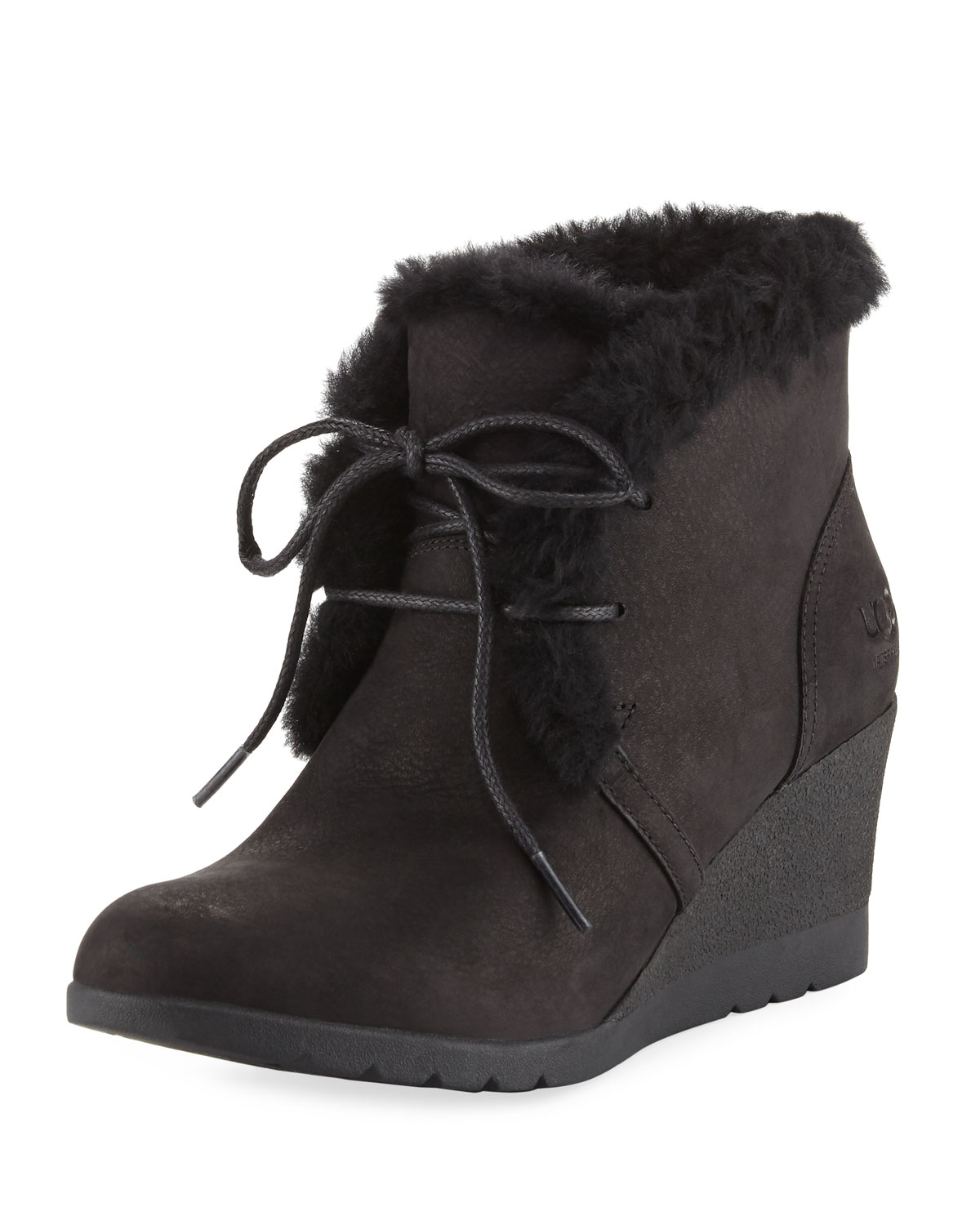 0282beef6ee6 UGG Jeovana Lace-Up Wedge Bootie